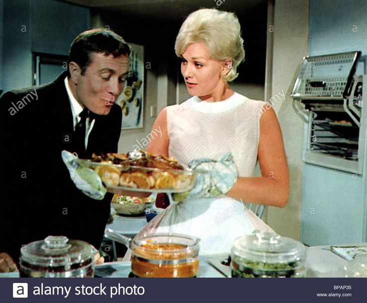 Howard Morris & Kim Novak Boys' Night Out (1962 Stock Photo ...