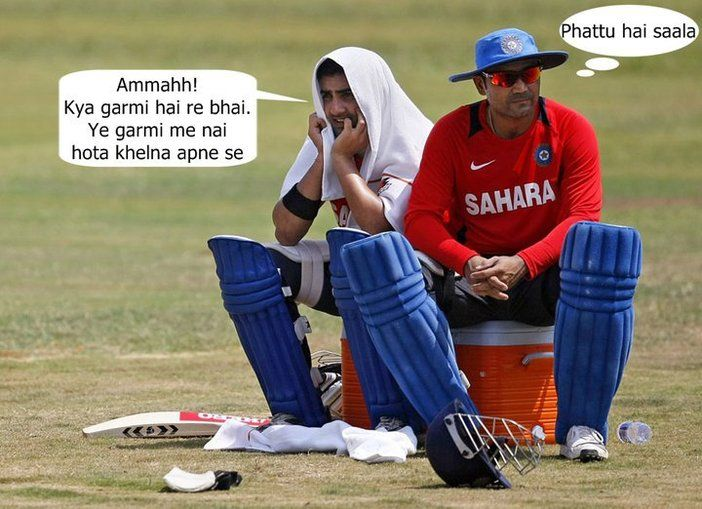 Funny Sehwag and other cricketer sitting Cricket Photo ...