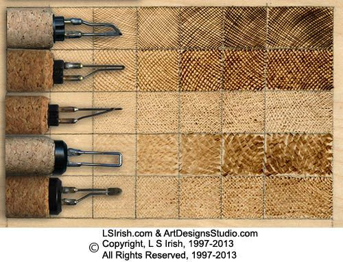 Pyrography / Wood burning pen tip types & what they do. Another useful piece of information ;):