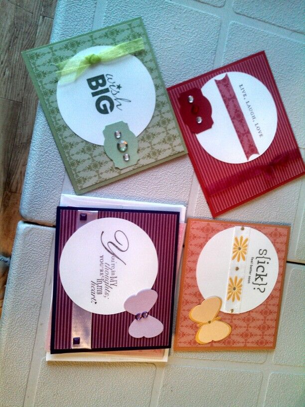 Stampin' Up DSP pattern stacks