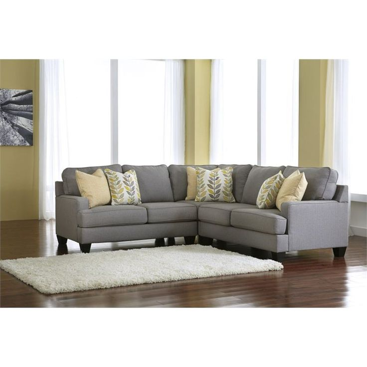 Signature Design By Ashley Furniture Chamberly 3 Piece Sectional Sofa In  Alloy