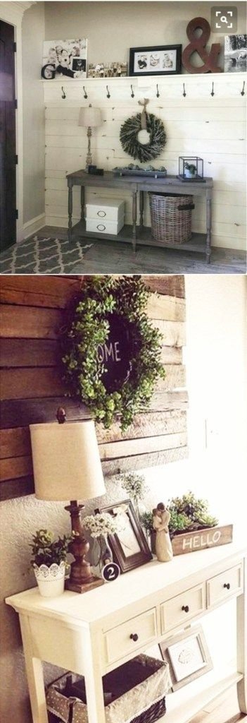 Small Foyer Decorating Ideas - small entryway organization and DIY decor ideas #farmhousedecor #diyhomedecor #farmhousestyle