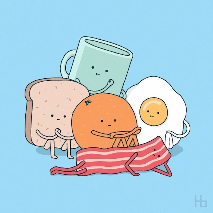 Get it? It's the Breakfast Club told through food.