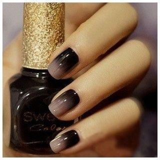 #smokeyombre #smokey #ombre #grey #black #greyblack #nails #nailart