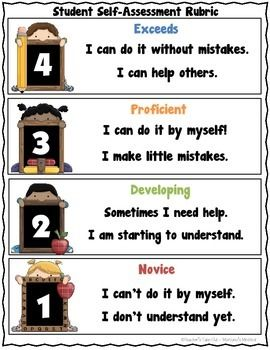 FREE! Here is a Marzano's Student Self-Assessment Rubric that I use with my students across all subjects areas.This scale can be used before, during, and after instruction.