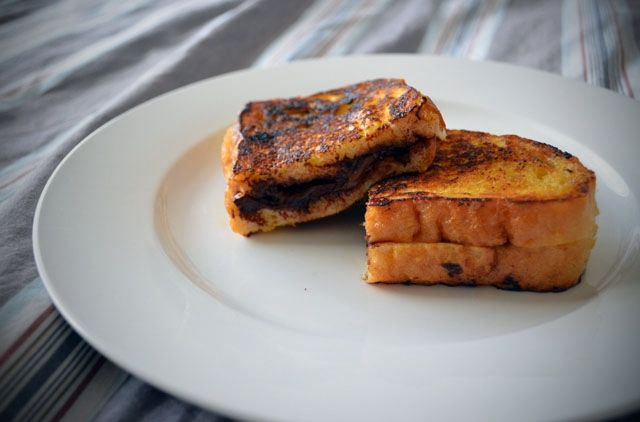 Chocolate filled French toast