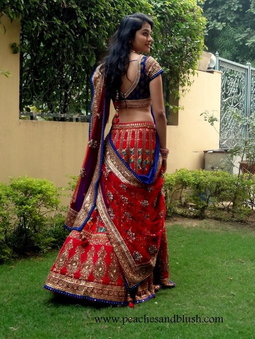 Red Blue Lehenga #lehenga #choli #indian #shaadi #bridal #fashion #style #desi #designer #blouse #wedding #gorgeous #beautiful
