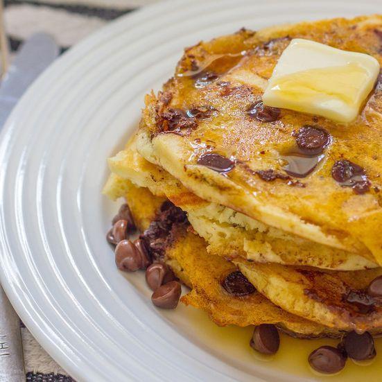 Chocolate Chip Coconut Pancakes Recipe (Gluten-Free) - Emily Farris | Food&Wine
