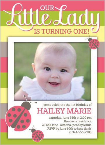 103 best baby girls 1st birthday invitations images on pinterest ladybug stripes 5x7 stationery card by clair paper company 1st birthday cardsinvitation filmwisefo Choice Image