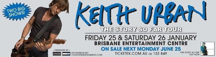 Keith Urban Australian Tour January 2013