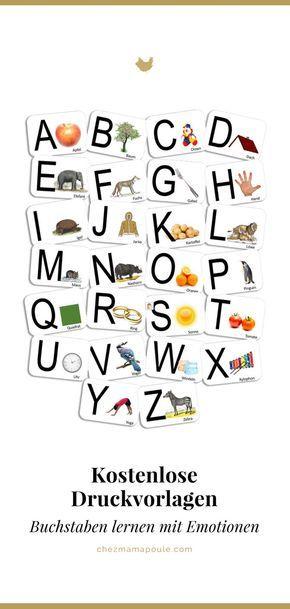 DIY: Buchstaben lernen mit persönlichen Karten (inkl. Druckvorlagen)
