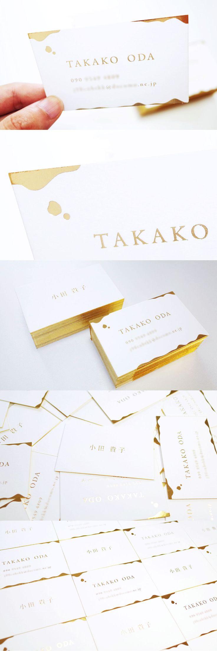 Gold business card design   金箔名刺デザイン #businesscard #card #print #design #gold  #idea #creative #inspiration #名刺 #カード #デザイン #おしゃれ #アイデア