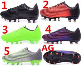 2017 new Football Shoes Cleats Cheap Football boots Mercurial Vapor XI AG soccer shoes AAA+++ quality 38-45 drop shipping top quality