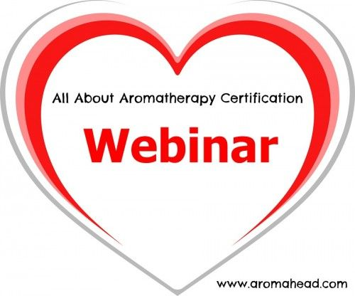 """Free Webinar! """"All About Aromatherapy Certification"""" If you are passionate about essential oils, great chance to learn more! https://aromahead.leadpages.net/acp-webinar-pinterest/"""