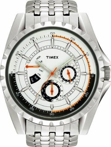 Using avant-garde detail and cutting edge design, this TIMEX Retrograde Chronograph Watch is perfect for every occasion. Striking orange embellishments add doses of fashionable color to the dial face. With its series of deluxe and technological features, The Retrograde Collection adds another level to Timex's ability to deliver truly innovative features. #TIMEX   #KhaValeri  https://ro.pinterest.com/KhaValeri/    kha_amz_TIMretrog0107_v9