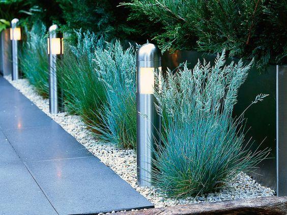 postes de luz de acero inoxidable