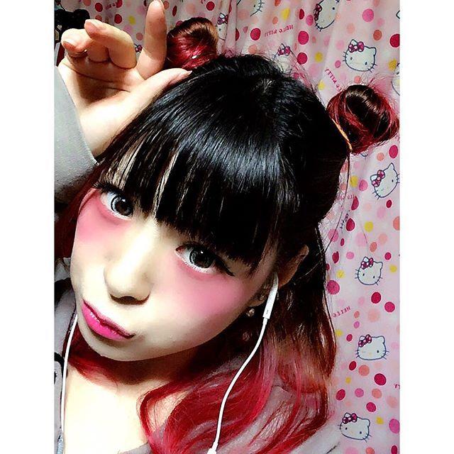 WEBSTA @ na_san02 - べあーーぁ。#アホの子#くまさん#ぴんく#毒かわいい#病みメイク#病みかわいい#ゆめかわいい#わたしの世界#お団子ヘア#ヘアアレンジ#簡単#不器用ですから←#派手髪#マニックパニック#pink#セルカ#せるか#セルフィー#自撮り#25歳←