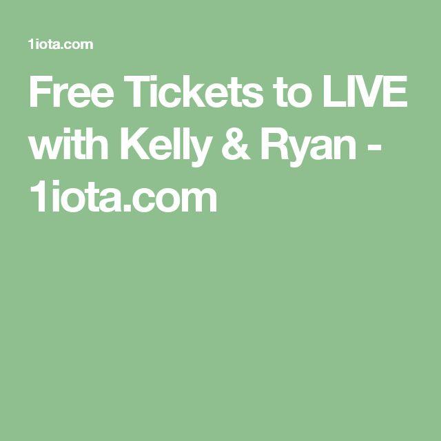 Free Tickets to LIVE with Kelly & Ryan - 1iota.com