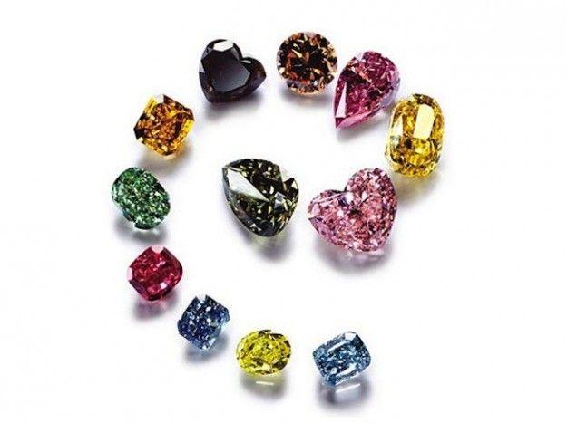 Diamanti colorati nella classificazione