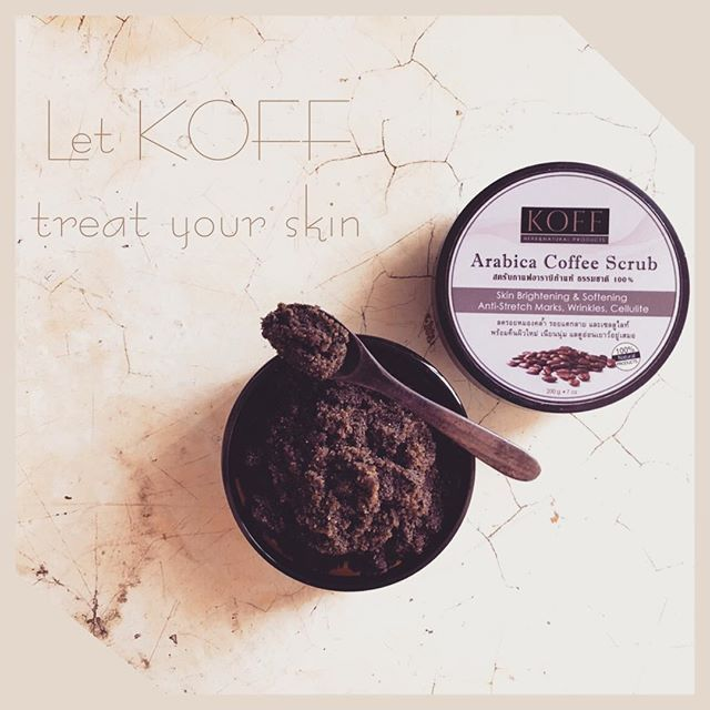 Let KOFF treat your skin... Natural & Organic 💯 Available now 🌱Arabica blend use from northern of Thailand🇹🇭 🇹🇭Product of Thailand⚫︎Global shipping ✈️✈️ コーヒースクラブ「コフ」はボディスクラブを楽しめます。 !!!販売中!!! オーガニック成分⚫︎ナチュラル💯 タイ製品⚫︎日本配送します✈️✈️ Contact  Email : koffpro@hotmail.com Line : @koffherbnatural  #coffeescrub #coffee #scrub #herb #naturalscrub #naturalbeauty #naturalskincare #coffeetime #scrublove #organic #organicskincare #arabica #organicbeauty #organiccoffee #organicscrub  #コーヒースクラブ #コーヒータイム…