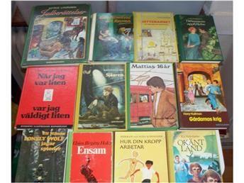12 st. Barnböcker, ungdomsböcker, Astrid Lindgren mm