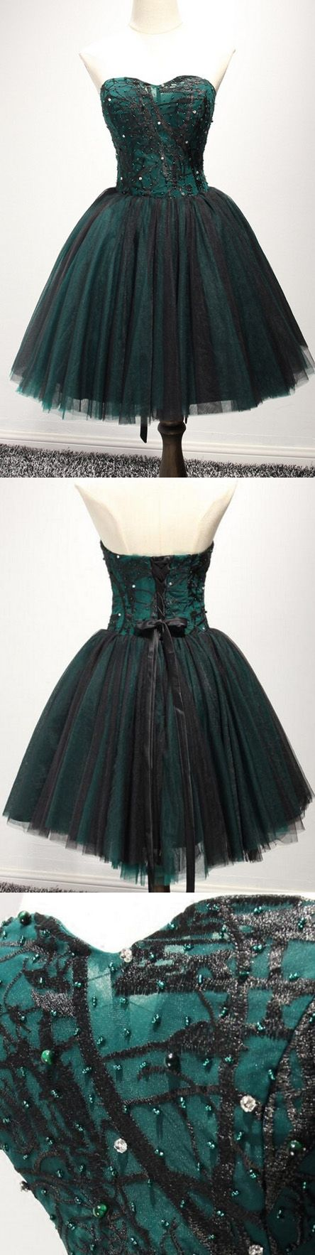 Short Prom Dresses, Lace Prom Dresses, Green Prom Dresses, Prom Dresses Short, Discount Prom Dresses, Sweetheart Prom Dresses, Dark Green Prom Dresses, Prom Short Dresses, Green Homecoming Dresses, Short Homecoming Dresses, Green Lace dresses, Dark Green dresses, Lace Up Prom Dresses, Beaded/Beading Party Dresses, Sweetheart Homecoming Dresses, Sleeveless Homecoming Dresses