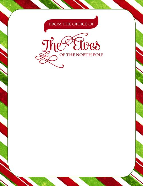 Elf on the Shelf Letterhead from The Elves