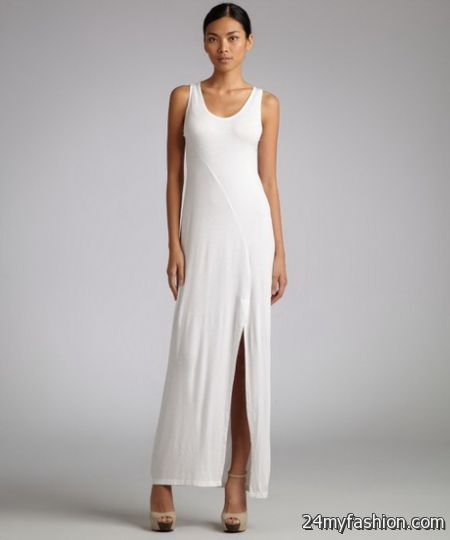 Nice White jersey maxi dresses 2018-2019 Check more at http://myclothestrend.com/dresses-review/white-jersey-maxi-dresses-2018-2019/