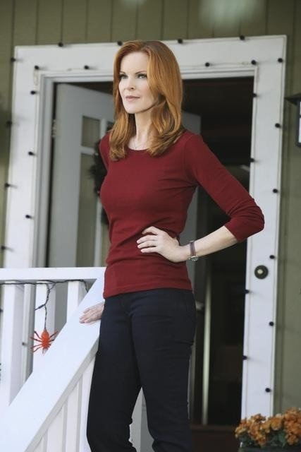 Marcia Cross- the right red