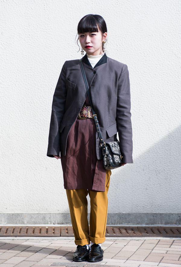 【キャンパス・パパラッチ DAILY】 ヴィンテージらしい趣のあるマニッシュなスタイル、岩本春花さん