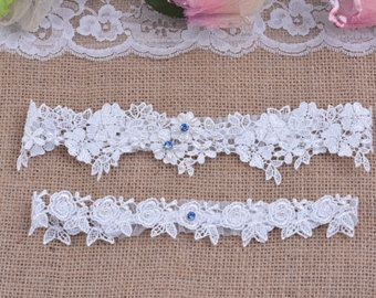 white bridal garter white lace garter wedding garter by annabrides