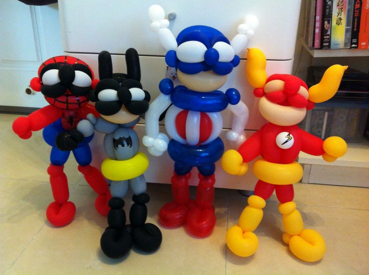 Superheroes...coolest balloons ever :)