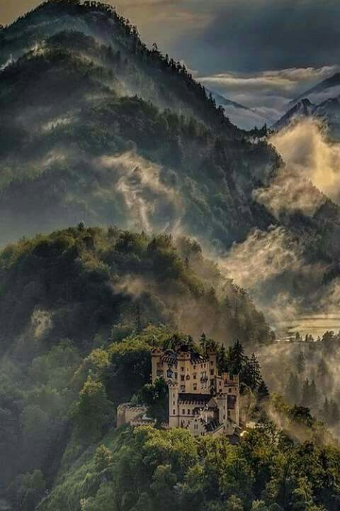 Castillo Honenschwangau, Baviera, Alemania. Crédito:  Ber Val
