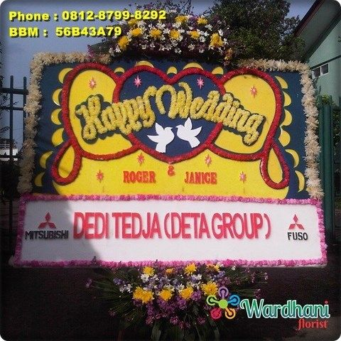 Bunga Papan Happy Wedding HW635WF