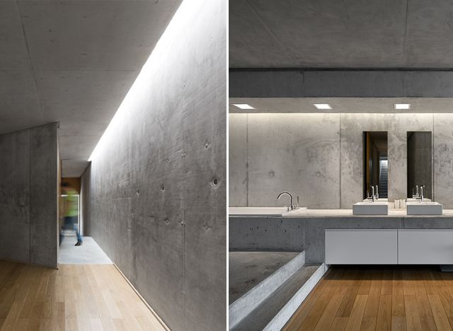 Indirect Lighting From Concrete Wall House In Rainha