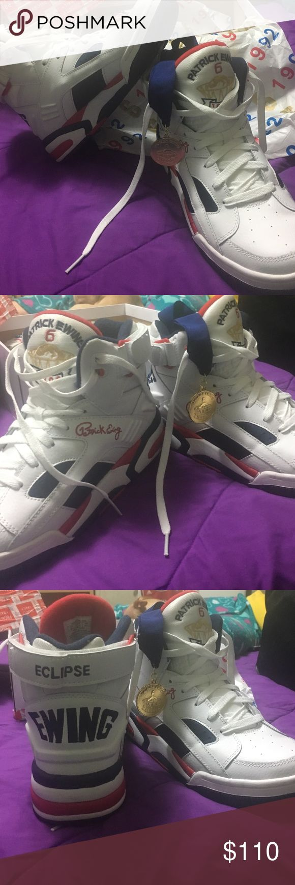 Size 9.5 Patrick Ewing 1992 Olympic Eclipse Condition like new, worn once. Comes with a medal. Comes with original box. Will drop price down to 100 if interested. Shoes Sneakers