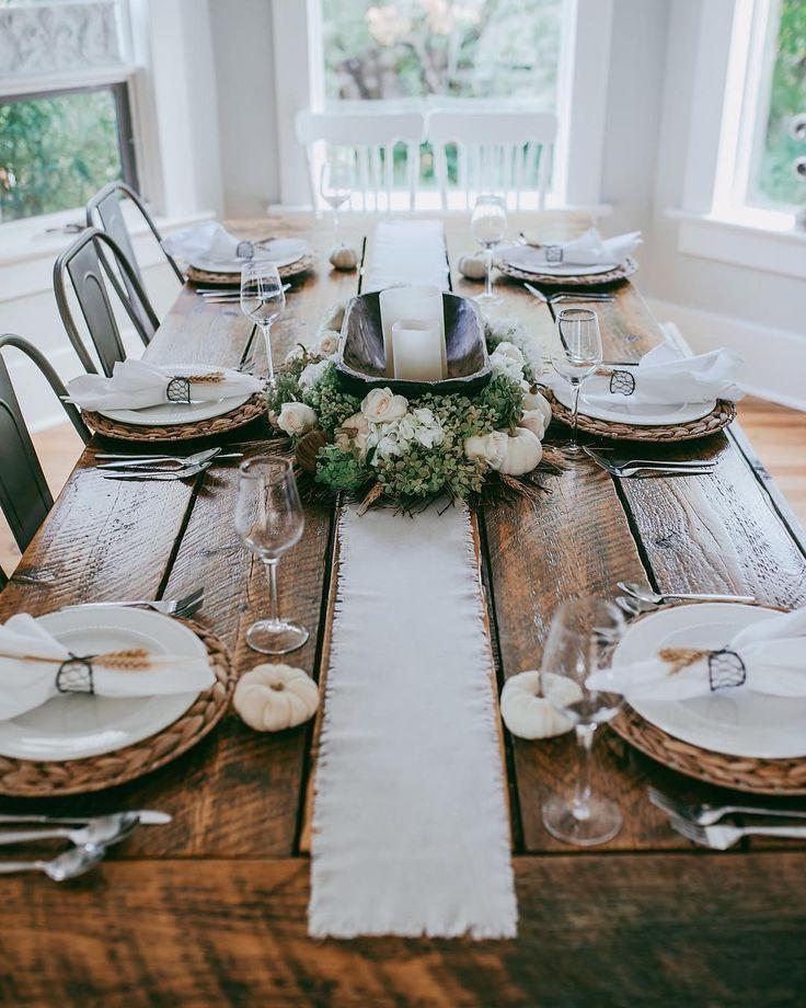 Rustic autumn table