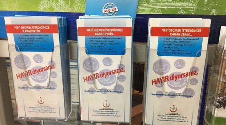 'Yanlış anlaşılır'mış: Konya'da 'Sigaraya Hayır' yazılı broşürler toplatıldı - Diken