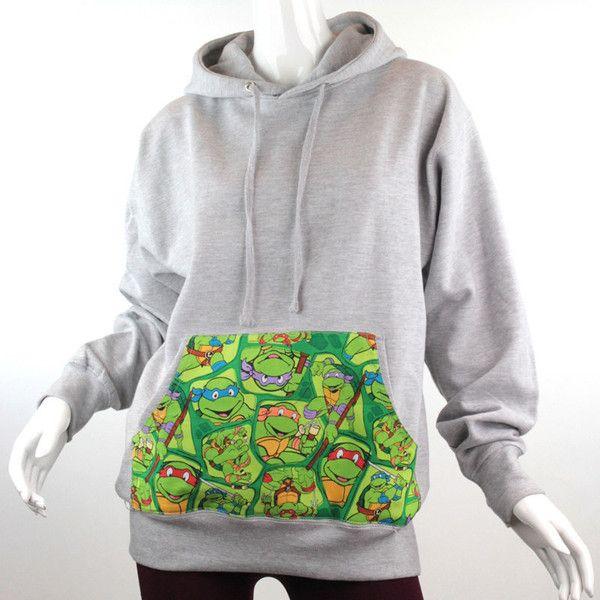 Teenage Mutant Ninja Turtle Comic Patched Unisex Pullover Hoodie... ($32) ❤ li... 2