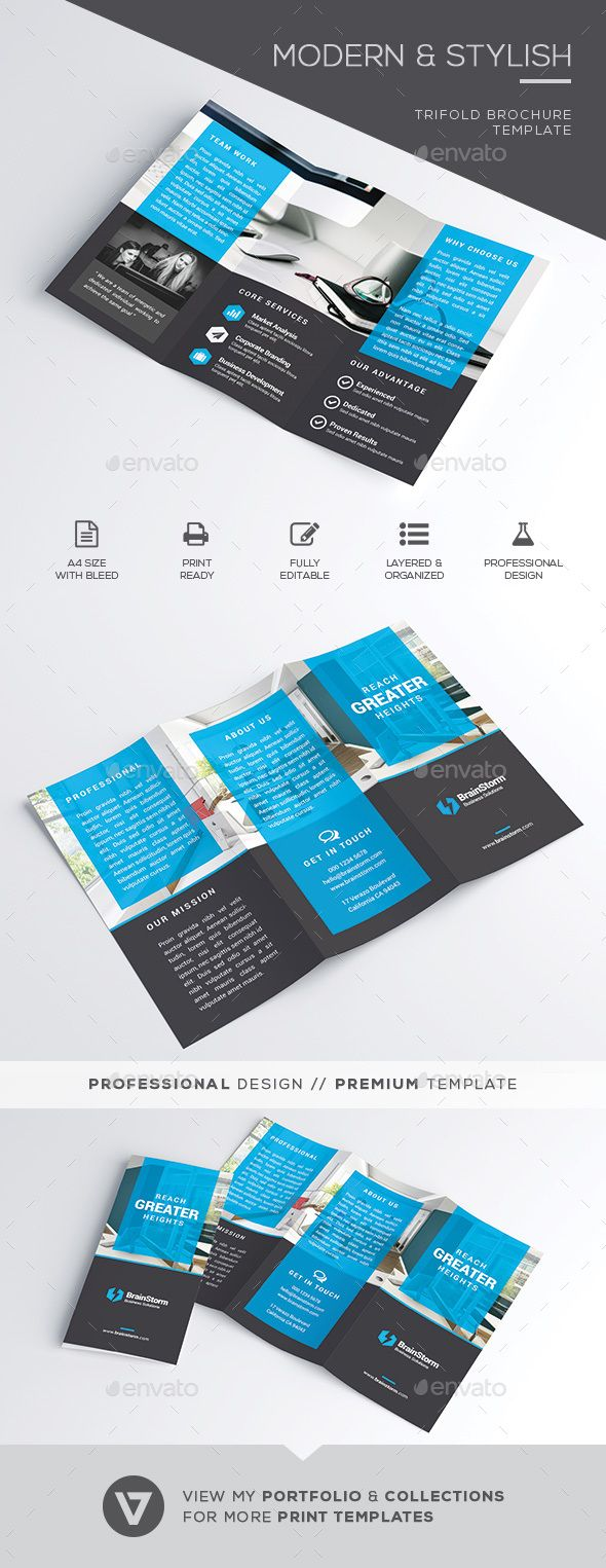 Best Brochure Templates Images On Pinterest Brochure Design - Marketing brochures templates