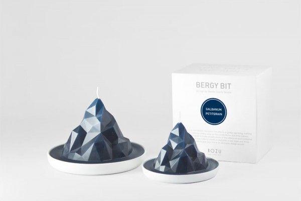 Vous souhaitez participer à la sensibilisation des effets du réchauffement climatique sur notre planète ? Gentle Giants Studio a conçu une collection de bougies qui reflète les icebergs en train de fondre.  Intitulée BERGY BIT, la collection est nommée d'après la définition scientifique d'un iceberg de taille moyenne qui était à l'origine partie intégrante d'un iceberg plus vaste mais qui suite au réchauffement s'est brisé.