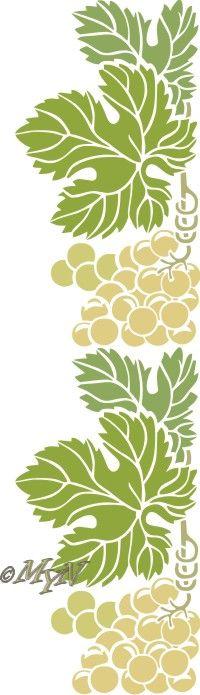Бордюр с виноградом 2