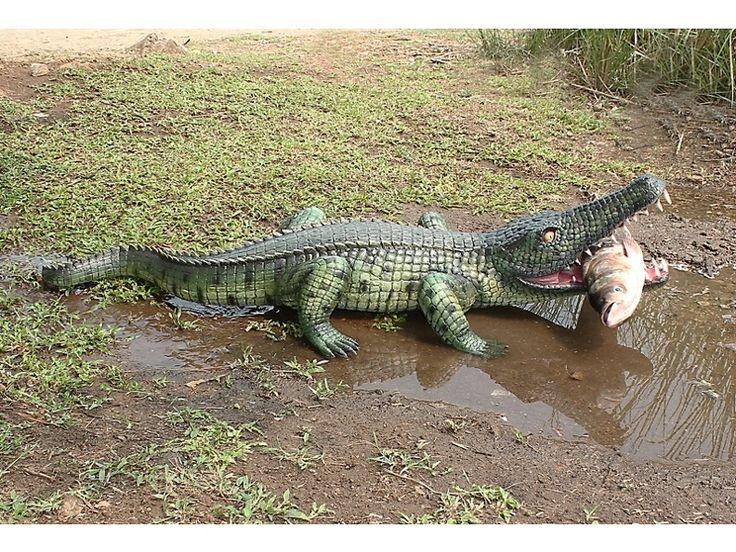 JBA101 - Baby Crocodile Eating A Fish - Dark Green & Black - JBA101 - Baby Crocodile Eating A Fish - Dark Green & Black.jpg