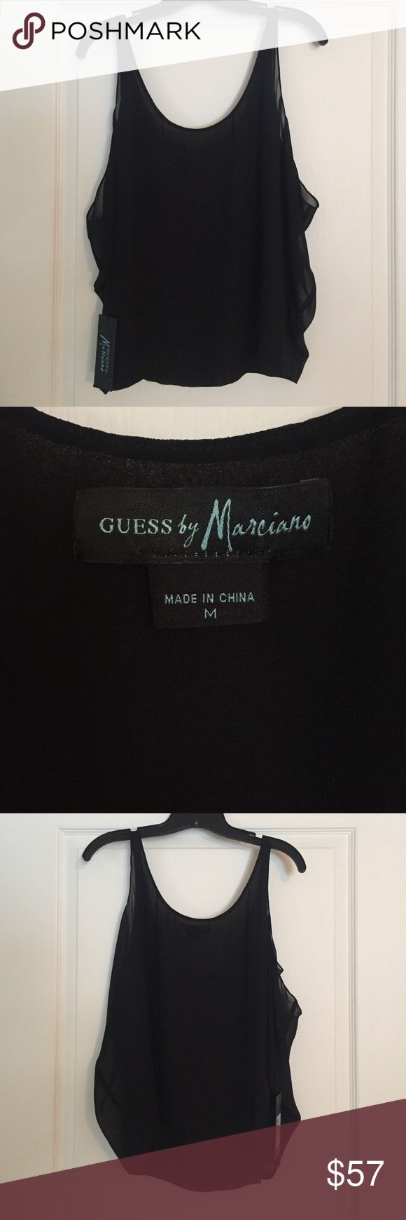 Guess Marciano black layered sleeveless blouse Guess Marciano black layered sleeveless blouse Guess by Marciano Tops Blouses