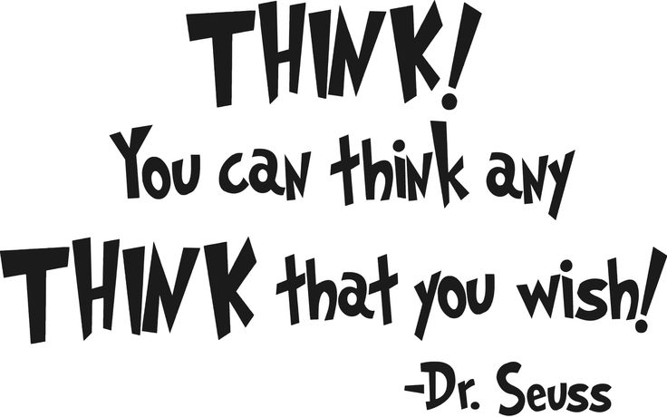 DrSeuss - You can think