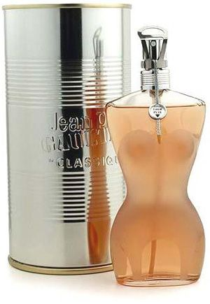 Classique Jean Paul Gaultier perfume - a fragrance for women 1993----At the beginning its name was JPGaultier Eau de Parfum and it was produced as eau de parfum. Now, it is called Classique and comes both as eau de perfume and eau de toilette. In the top notes delicate rose scent is spiced by fresh anis. Middle notes combine sweet orange blossom and exciting ginger, a powerful aphrodisiac. Vanilla and sensual amber gently embrace in the base. Behind this fragrance is Jacques Cavallier. 1993