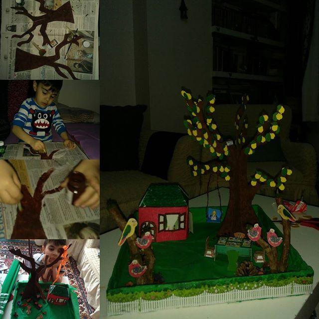 #okuloncesietkinlik ve #ağaçprojemiz ve finalimiz 😉 #preschoolactivities #treeproject and #final
