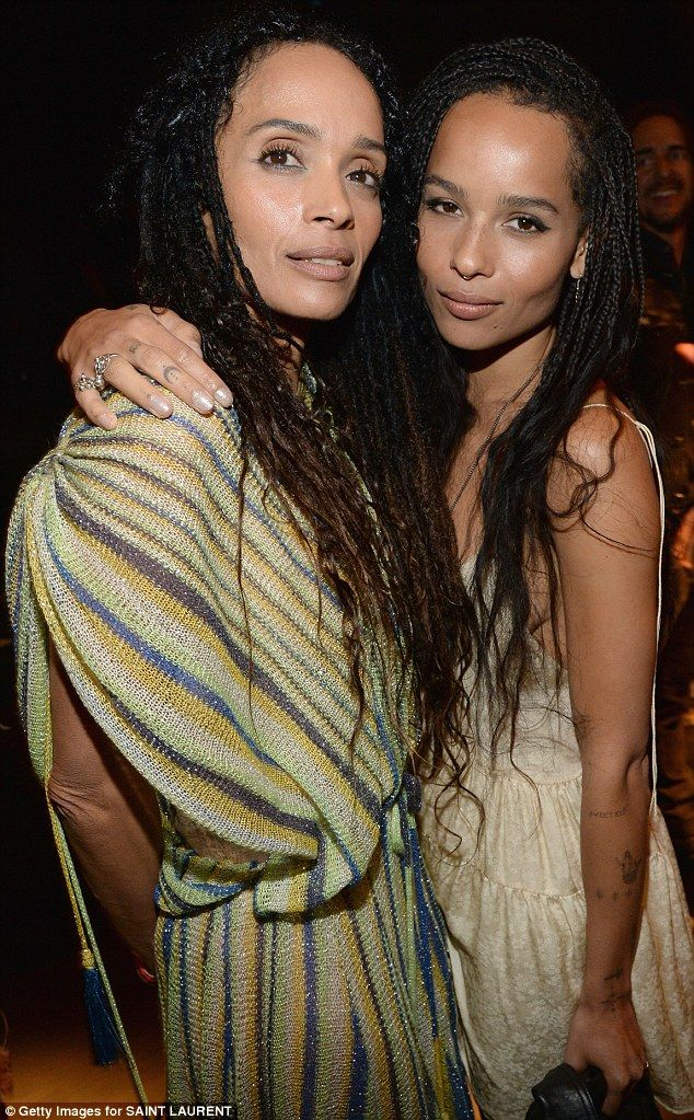 They could be twins! Mother and daughter looked naturally beautifully with their long braided hair