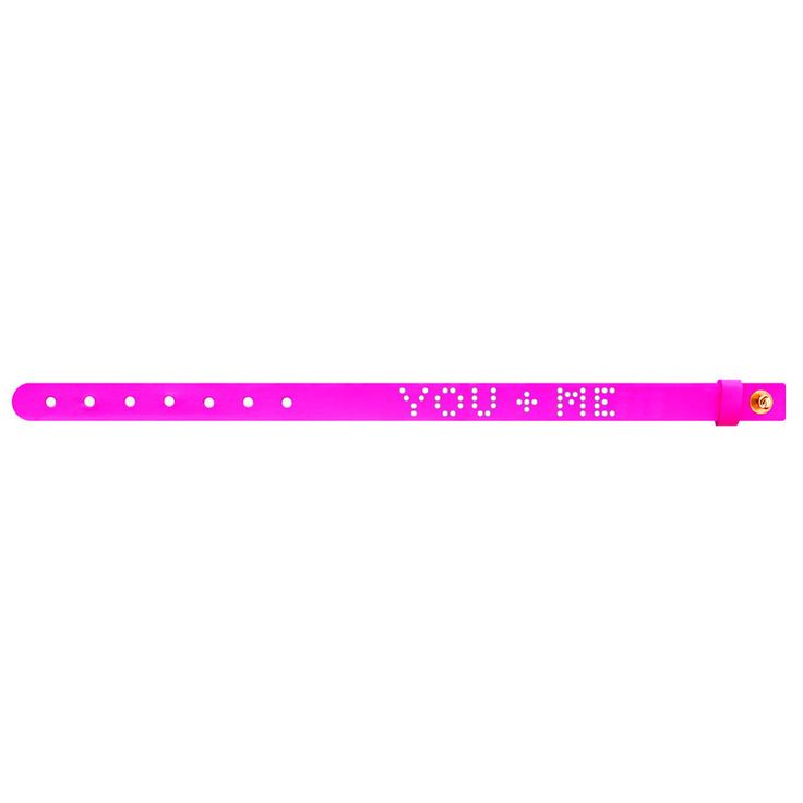 No.147 YOU + ME Leather Bracelet / Neon Pink