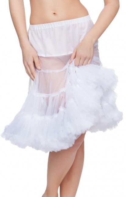 German Trachten Petticoat U90 white